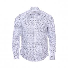 Chemise droite Ben Sherman en coton blanc à petites fleurs bleues
