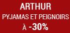-30% sur les peignoirs et pyjamas arthur