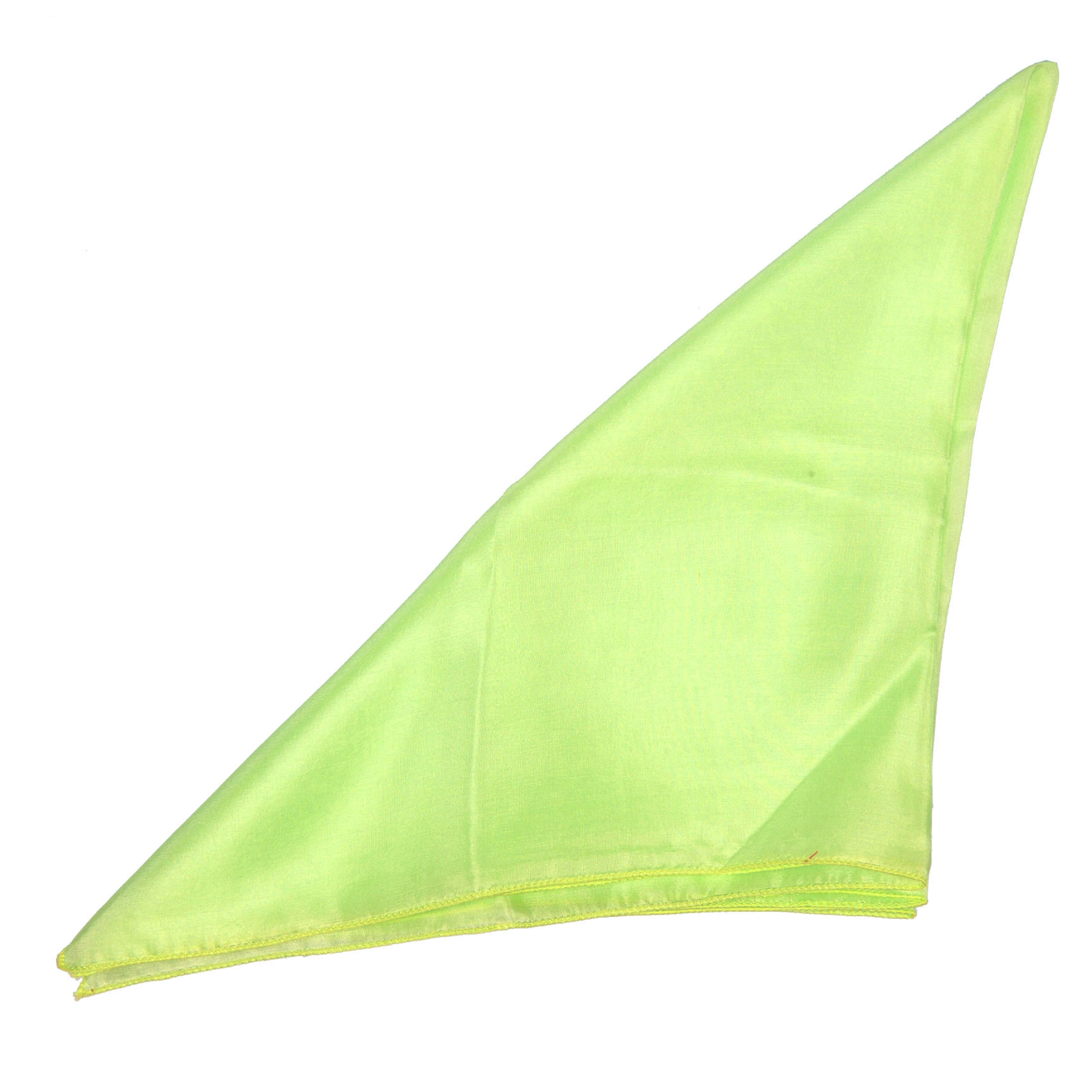 Pochette en soie vert anis pour costume
