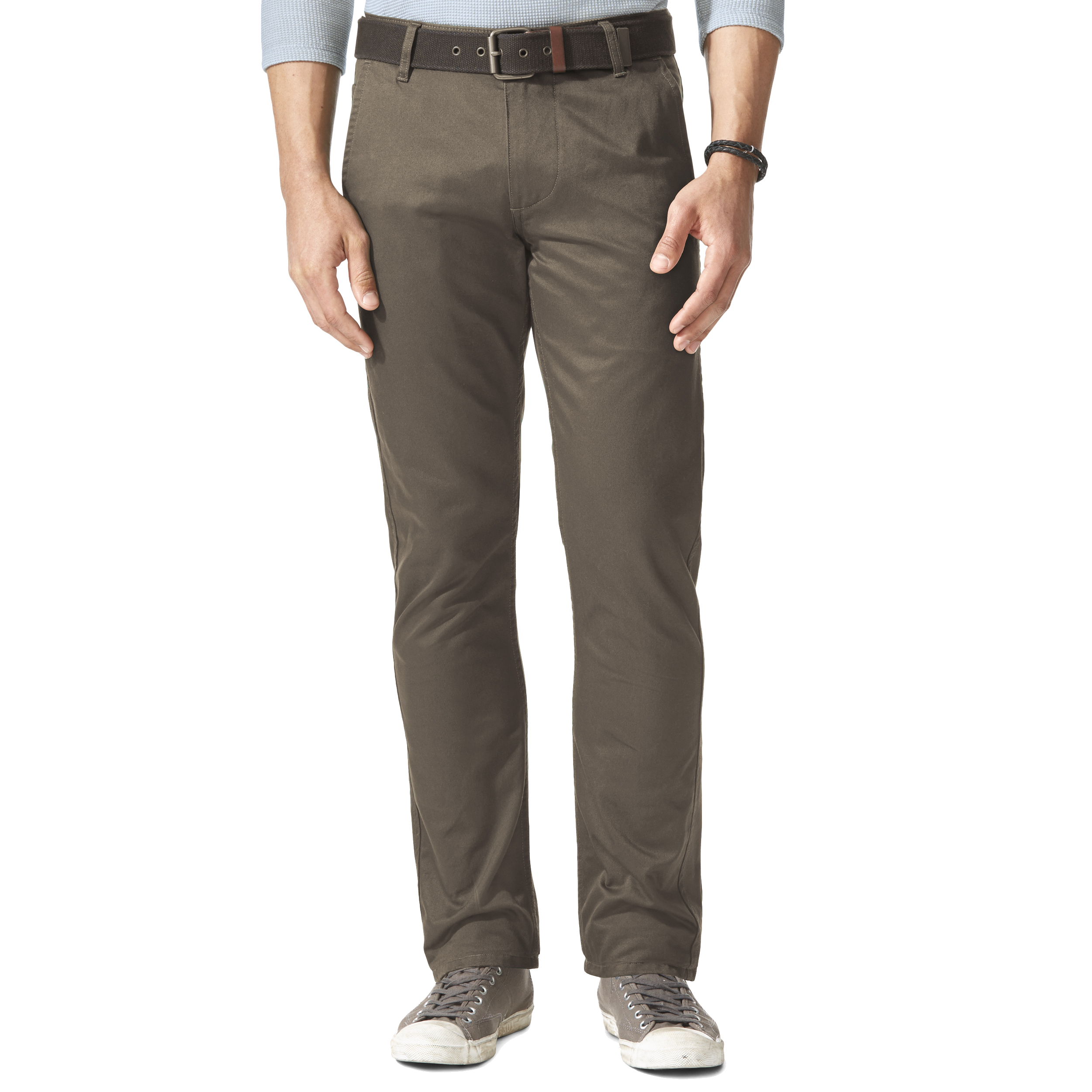 Pantalon alpha khaki original slim tapered  en twill taupe