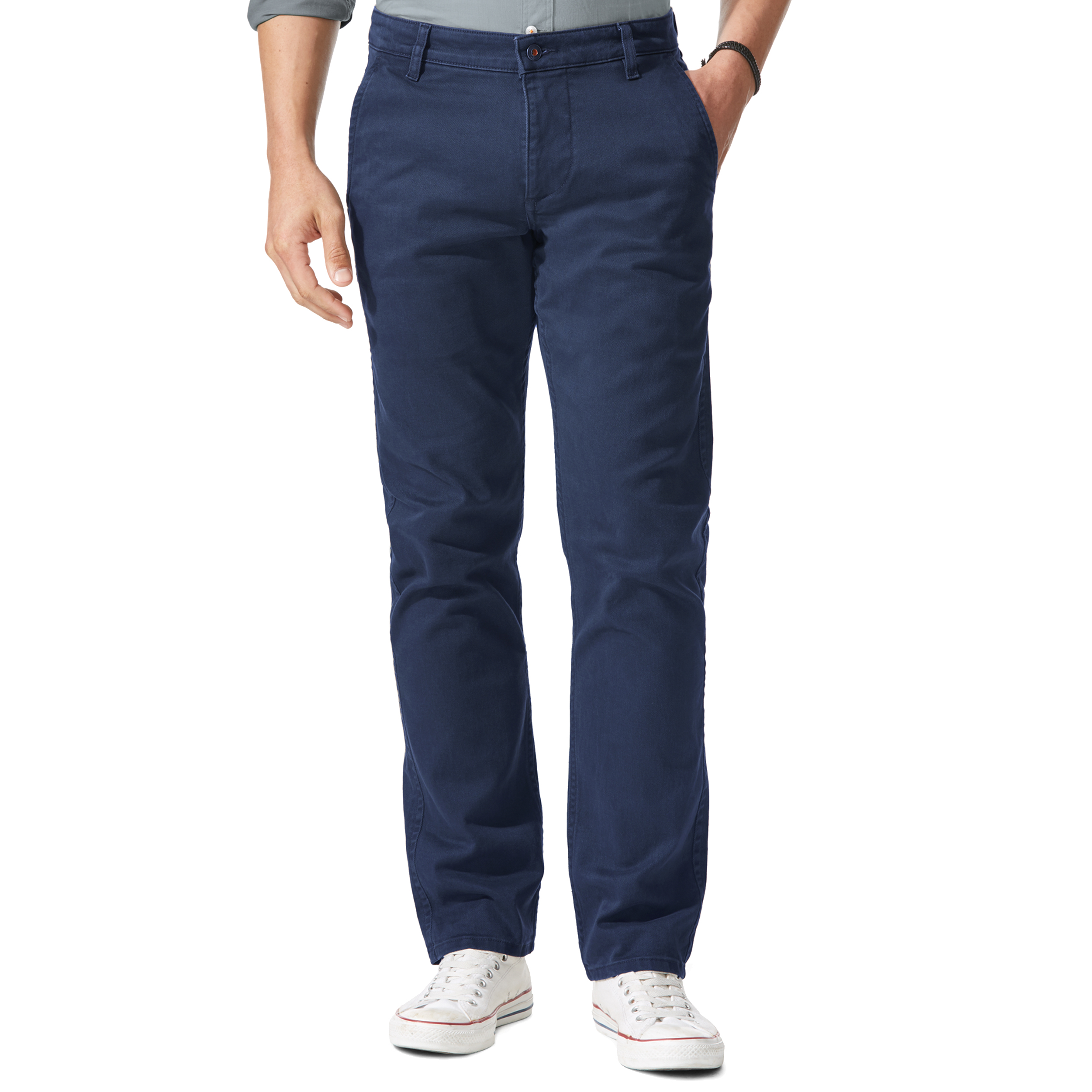 Pantalon alpha khaki original slim tapered  en twill bleu marine