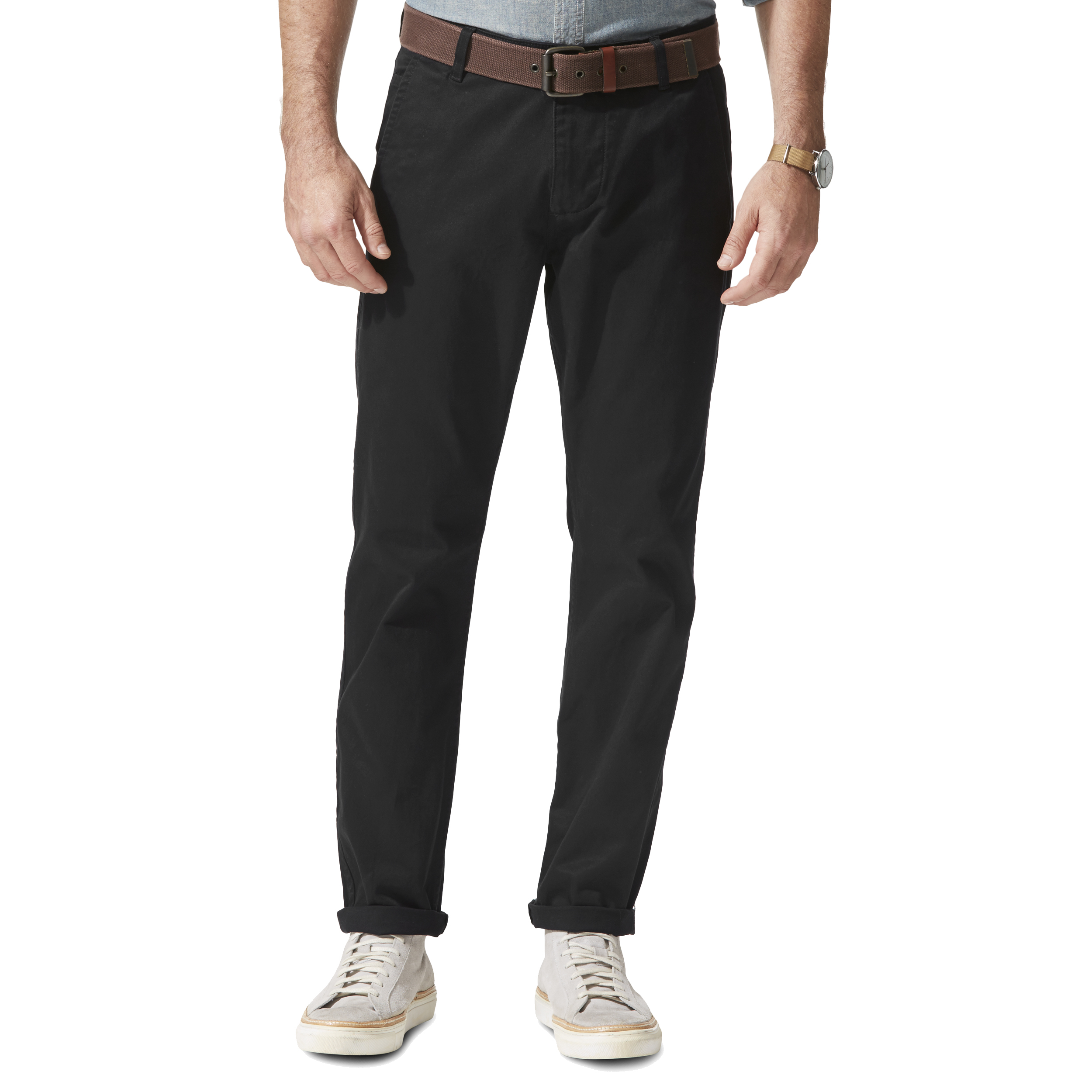 Pantalon alpha khaki original slim tapered  en twill noir