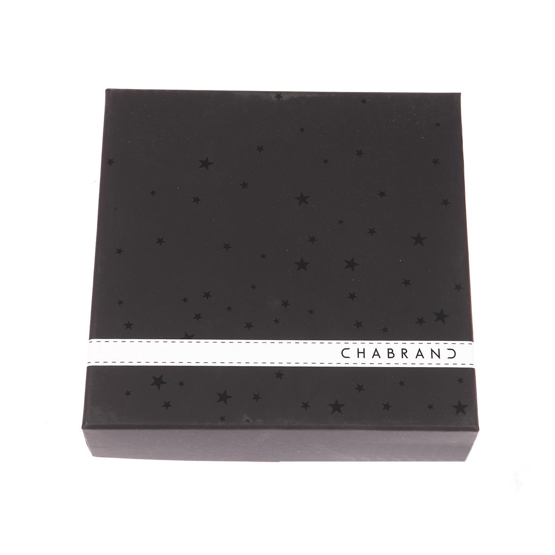 Coffret cadeau Chabrand : Ceinture ajustable en cuir noir réversible marron à boucle classique et pleine noire