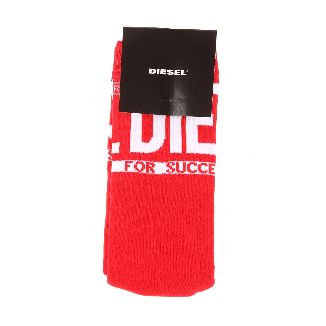 Chaussettes de tennis diesel rouges à logo diesel blanc