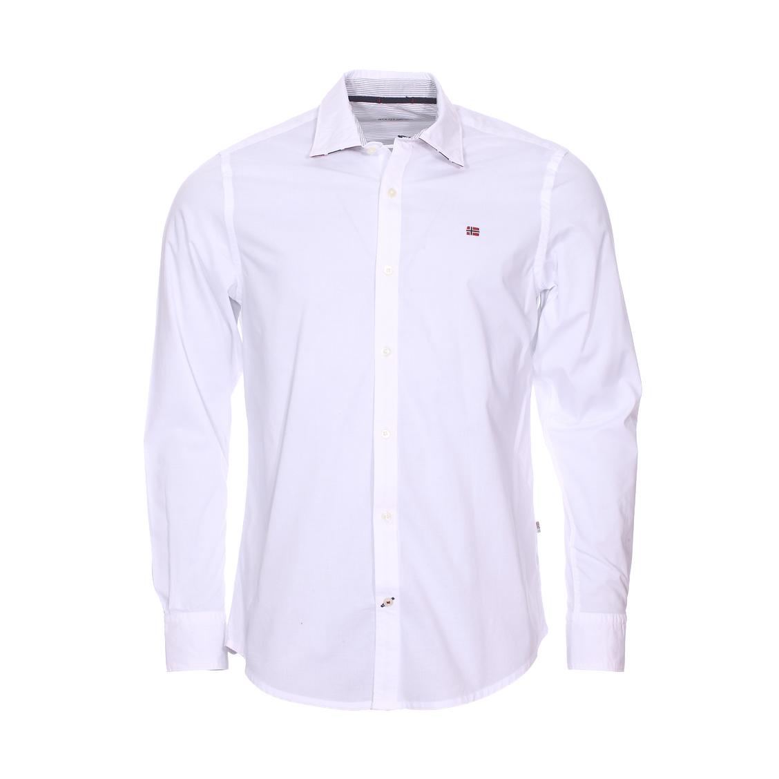 Chemise ajustée guyamas  en coton blanc
