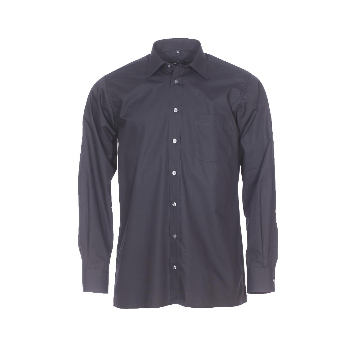 Chemise droite  en coton mélangé noir