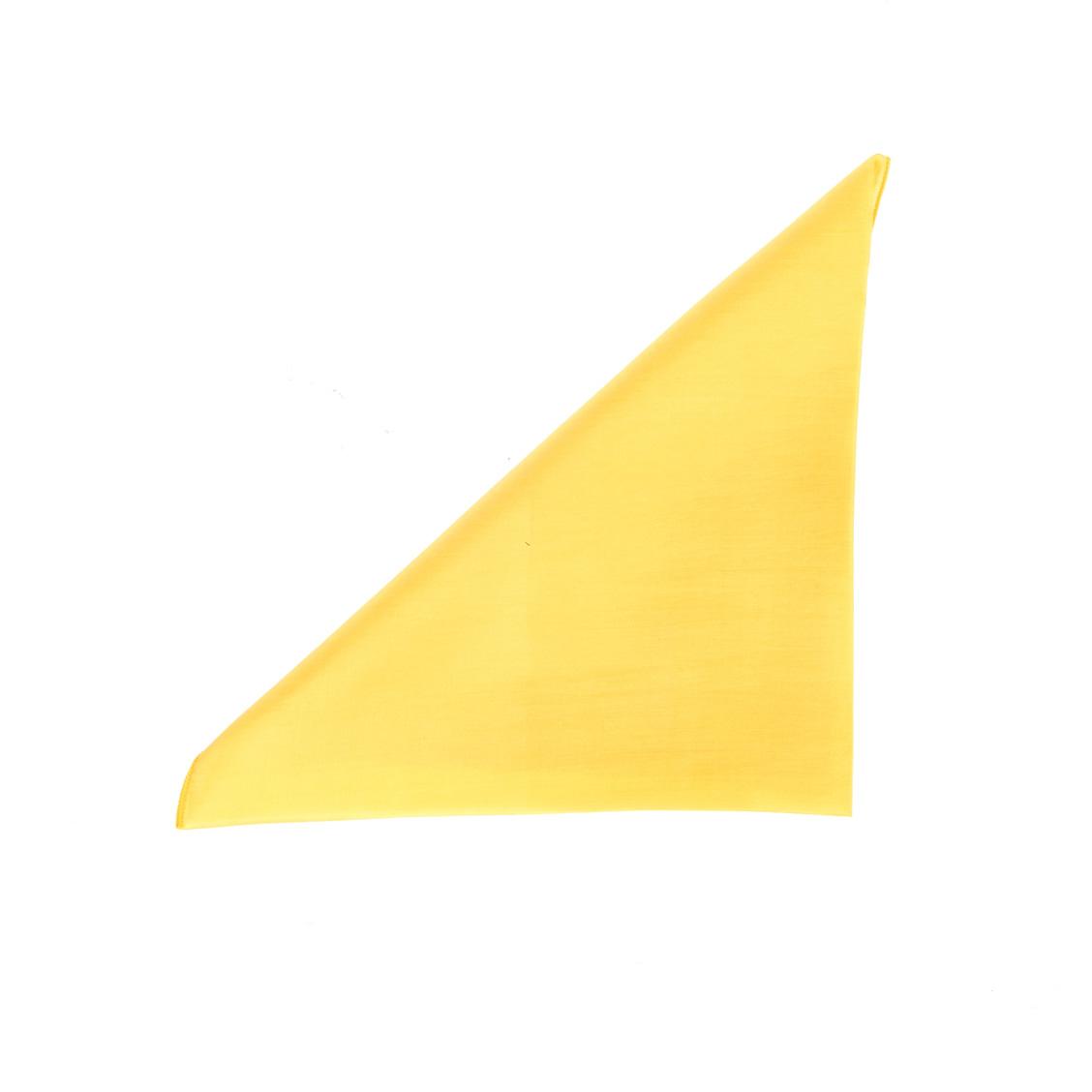 Pochette en soie  jaune