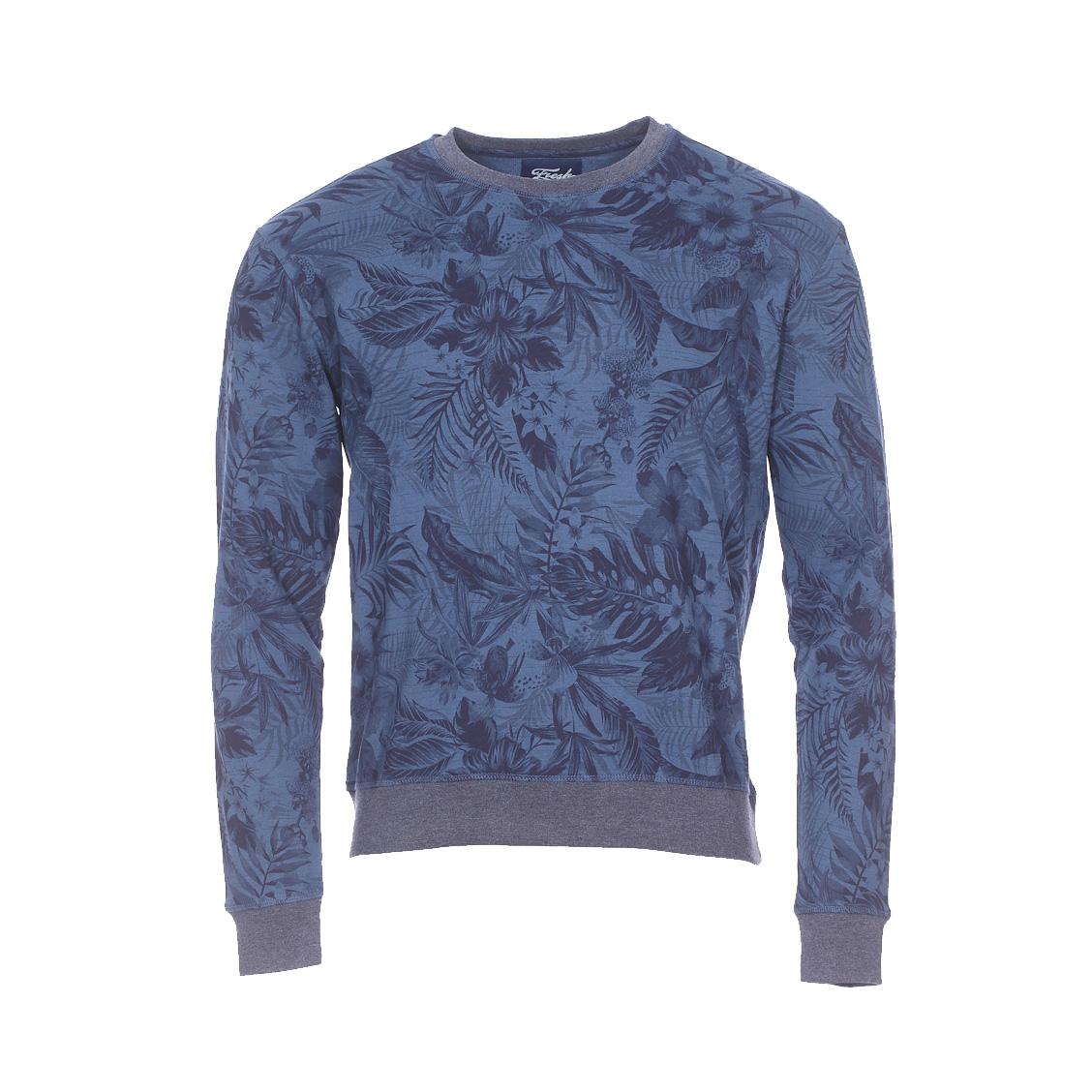 Sweat The Fresh Brand bleu indigo à fleurs bleu marine