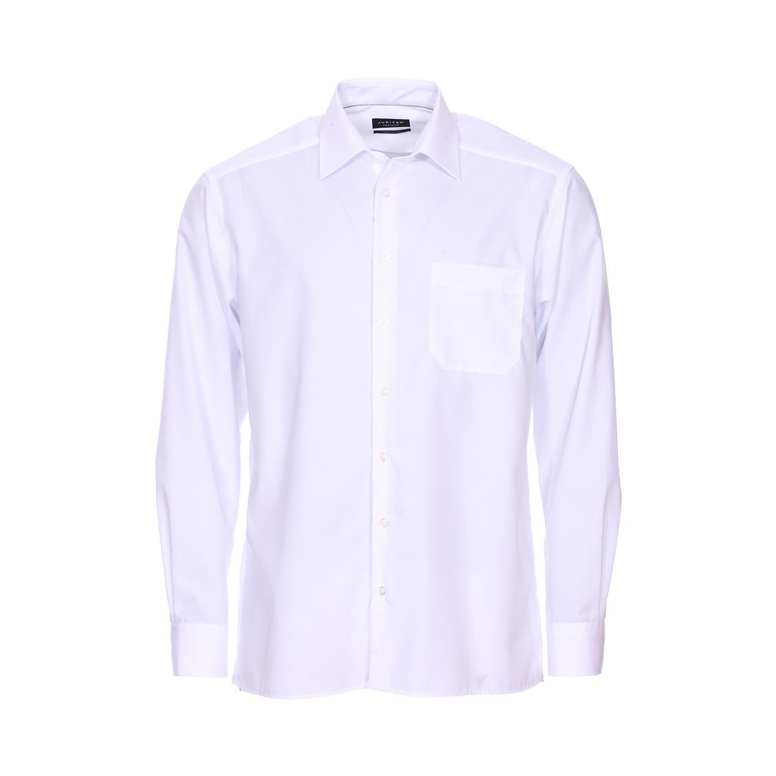 Chemise droite noblesse  en coton blanc