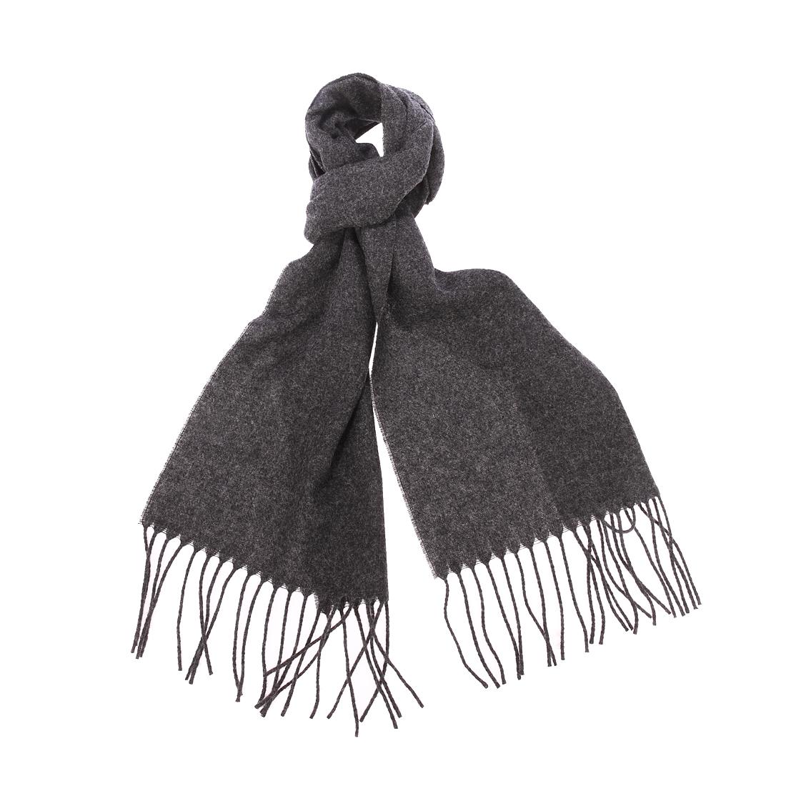 Echarpe  en laine gris anthracite