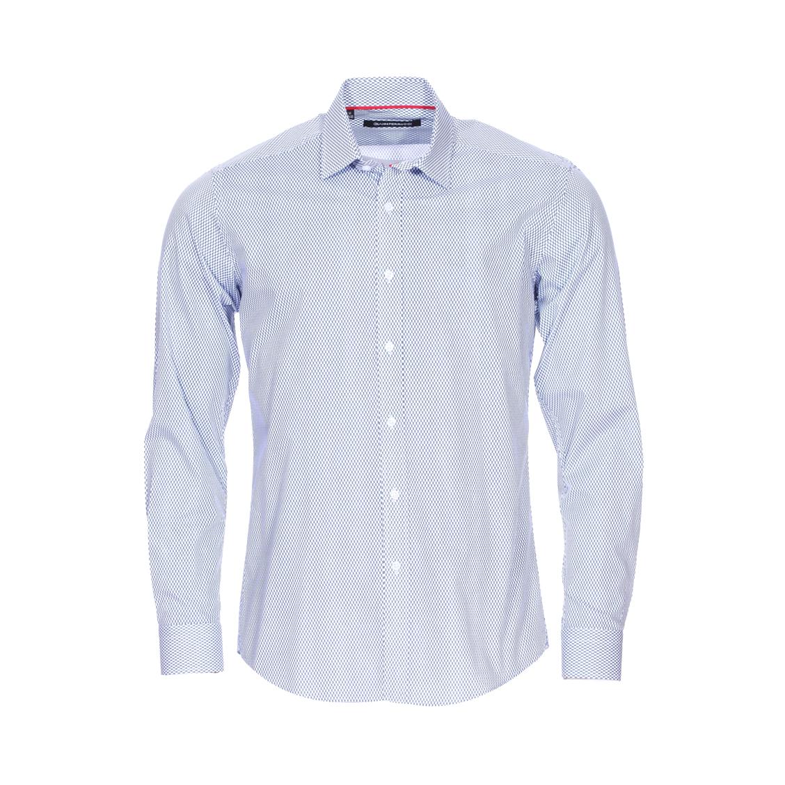 Chemise cintrée Gianni Ferrucci en coton bleu marine à motifs indigo et blancs