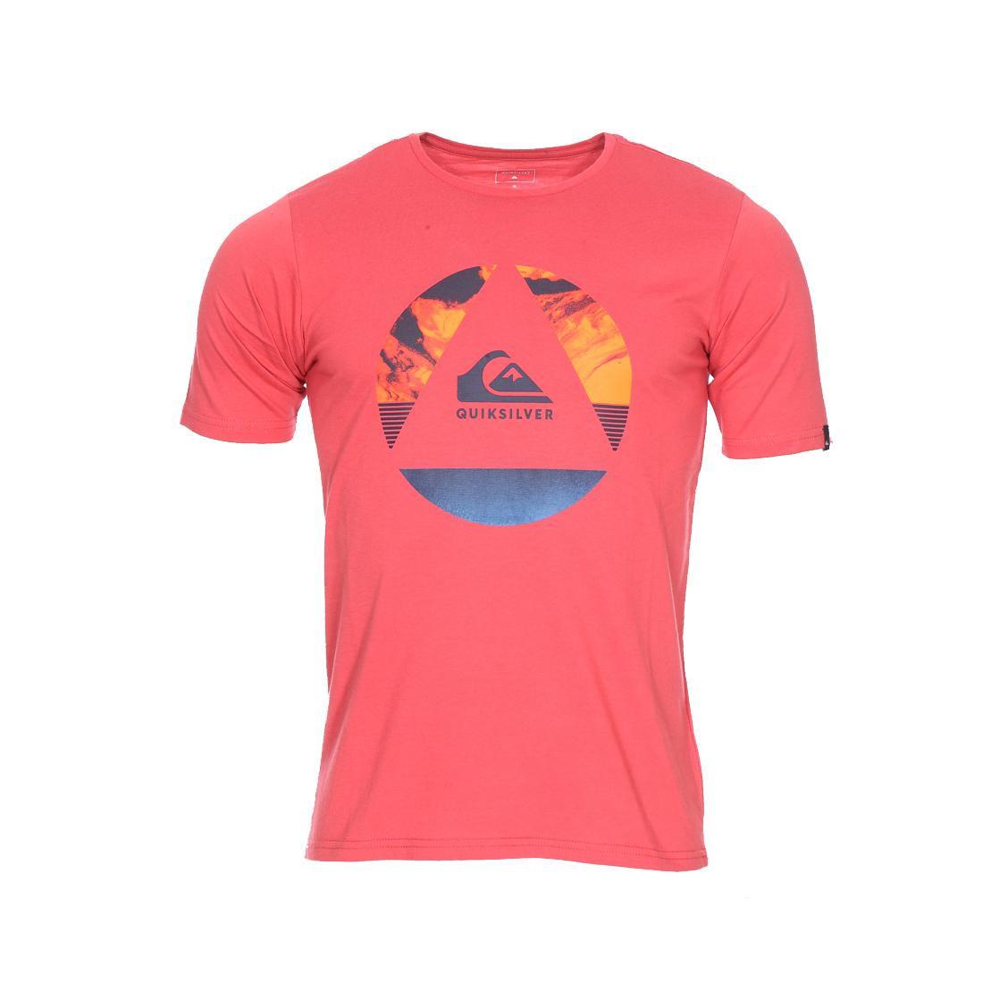 Tee-shirt col rond  classic fluid turns en jersey de coton rouge vintage