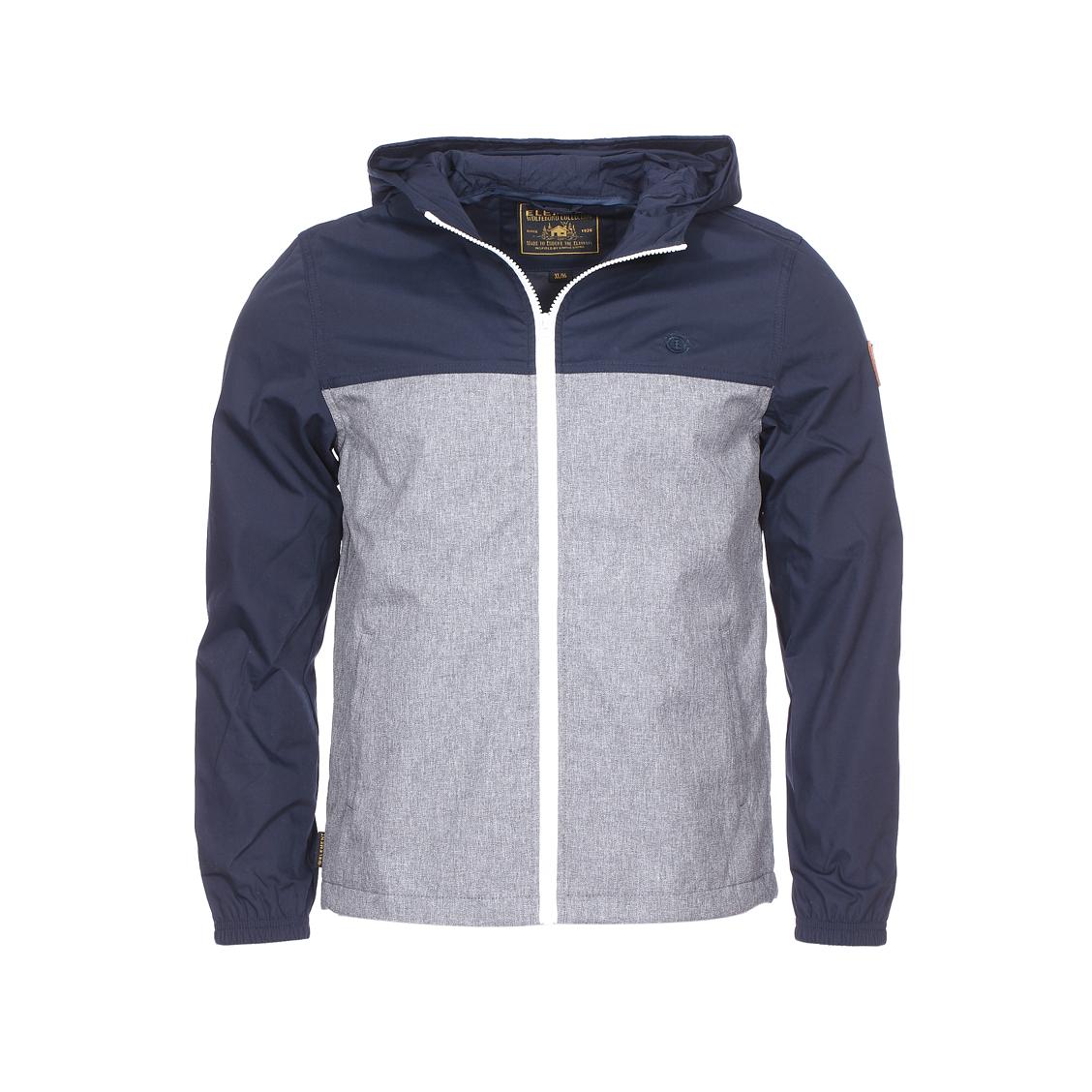 Veste zippée à capuche  alder light bleu marine et gris chiné