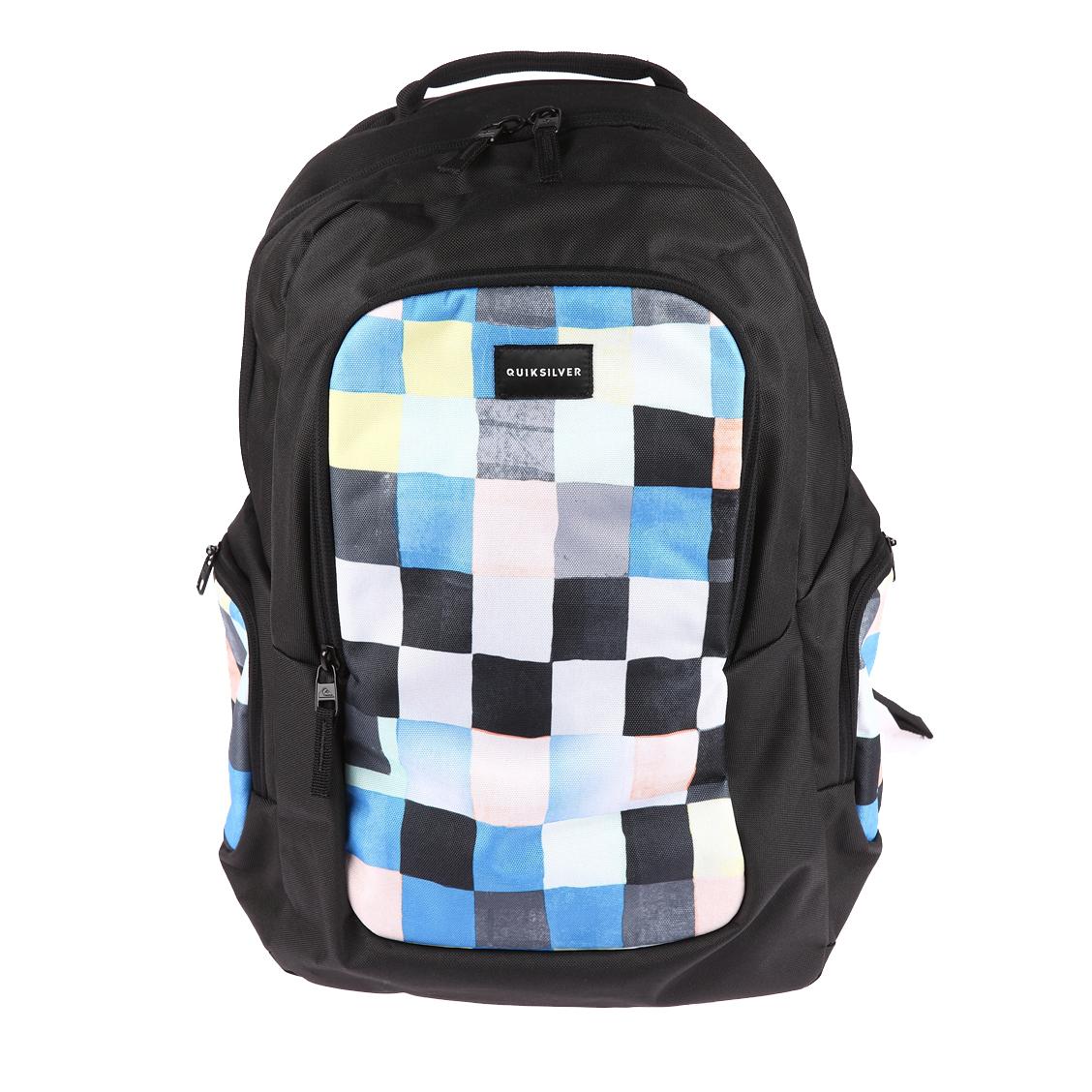 Sac à dos  schoolie 25 l noir à motifs carreaux multicolores