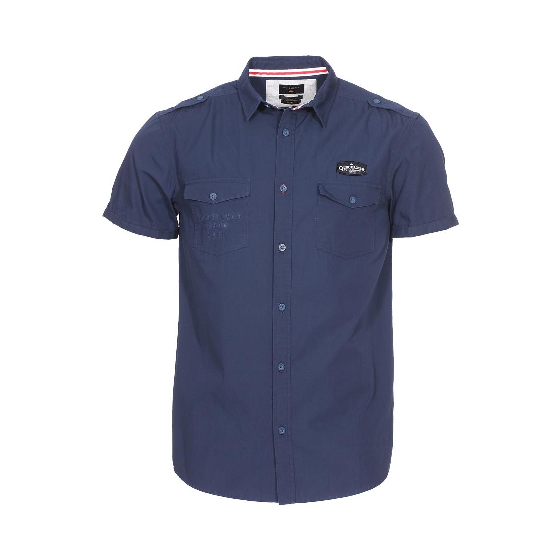 Chemise manches courtes  shd tripster en coton bleu marine