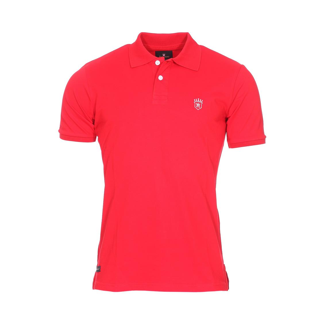 Polo Aristow Premium en coton stretch piqué rouge