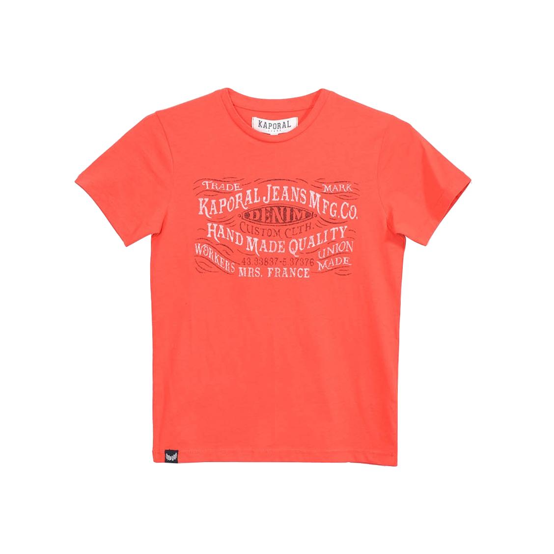 Tee-shirt col rond  raker en coton rouge