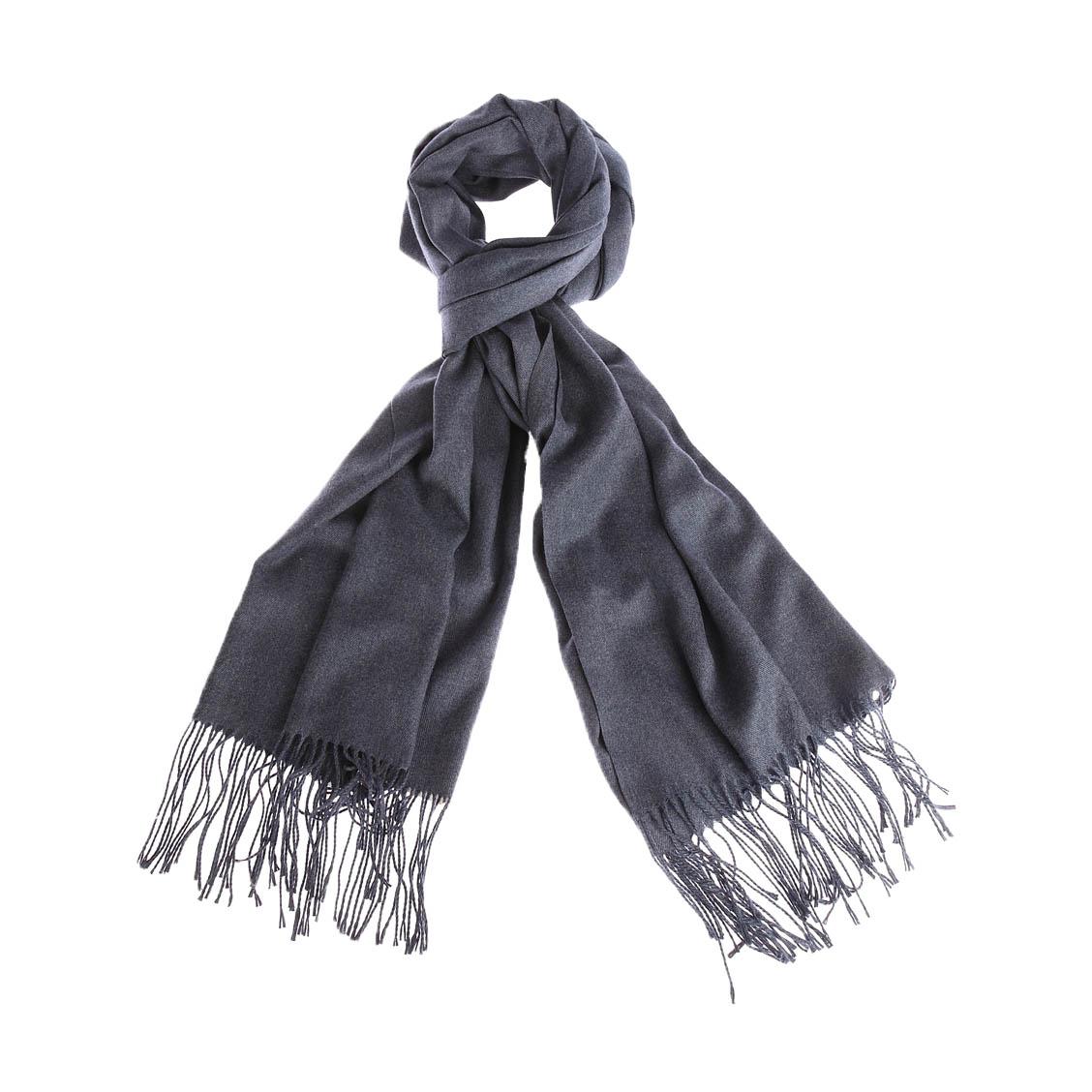 Echarpe  ubaldo en modal et laine bleu chiné