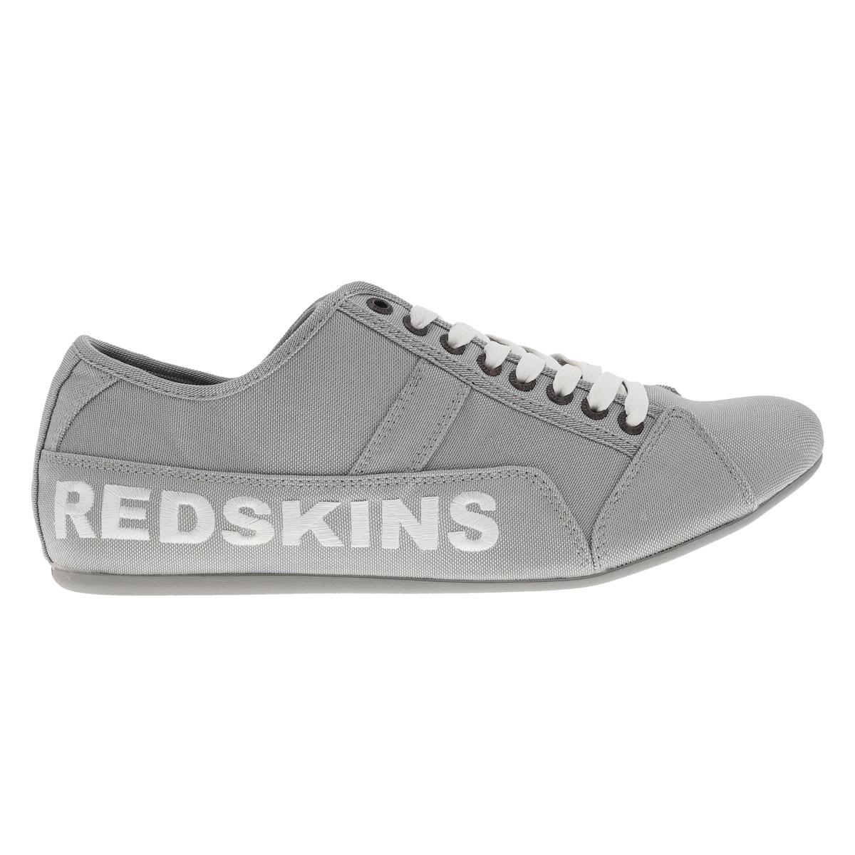 Baskets redskins guiz en mesh gris argenté