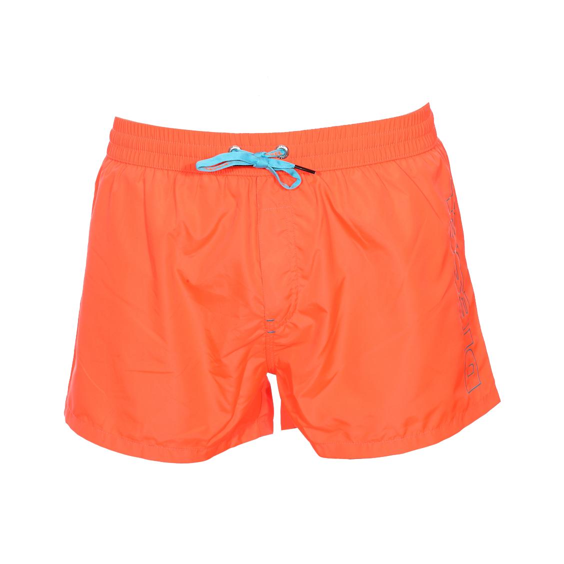 Short de bain diesel sandy orange fluo