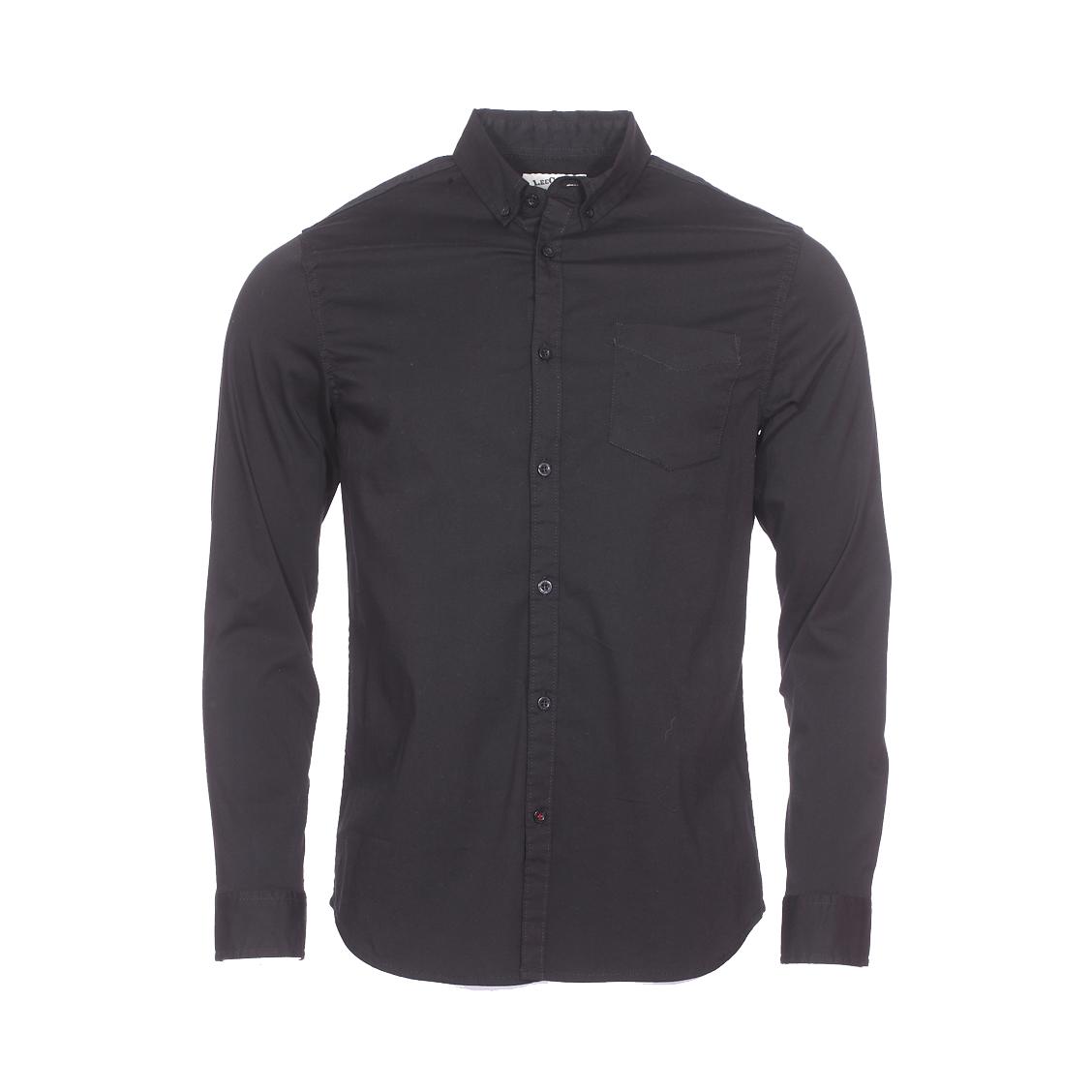 Chemise ajustée  dilon en coton stretch noir