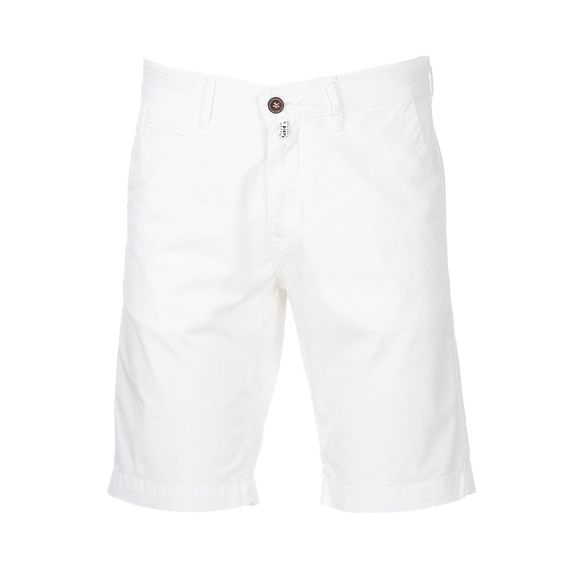 Short chino  lyon en coton stretch blanc