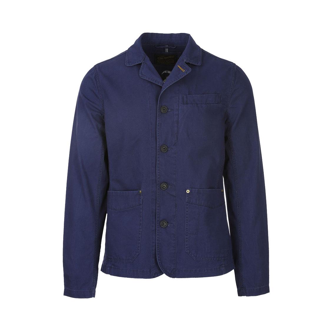 Veste  en coton stretch bleu marine