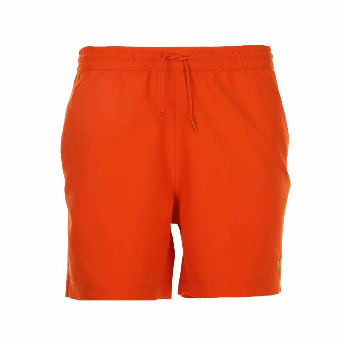 Short de bain Carhartt WIP Chase orange