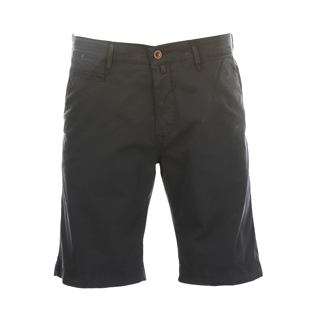 Short chino  lyon en coton stretch bleu marine
