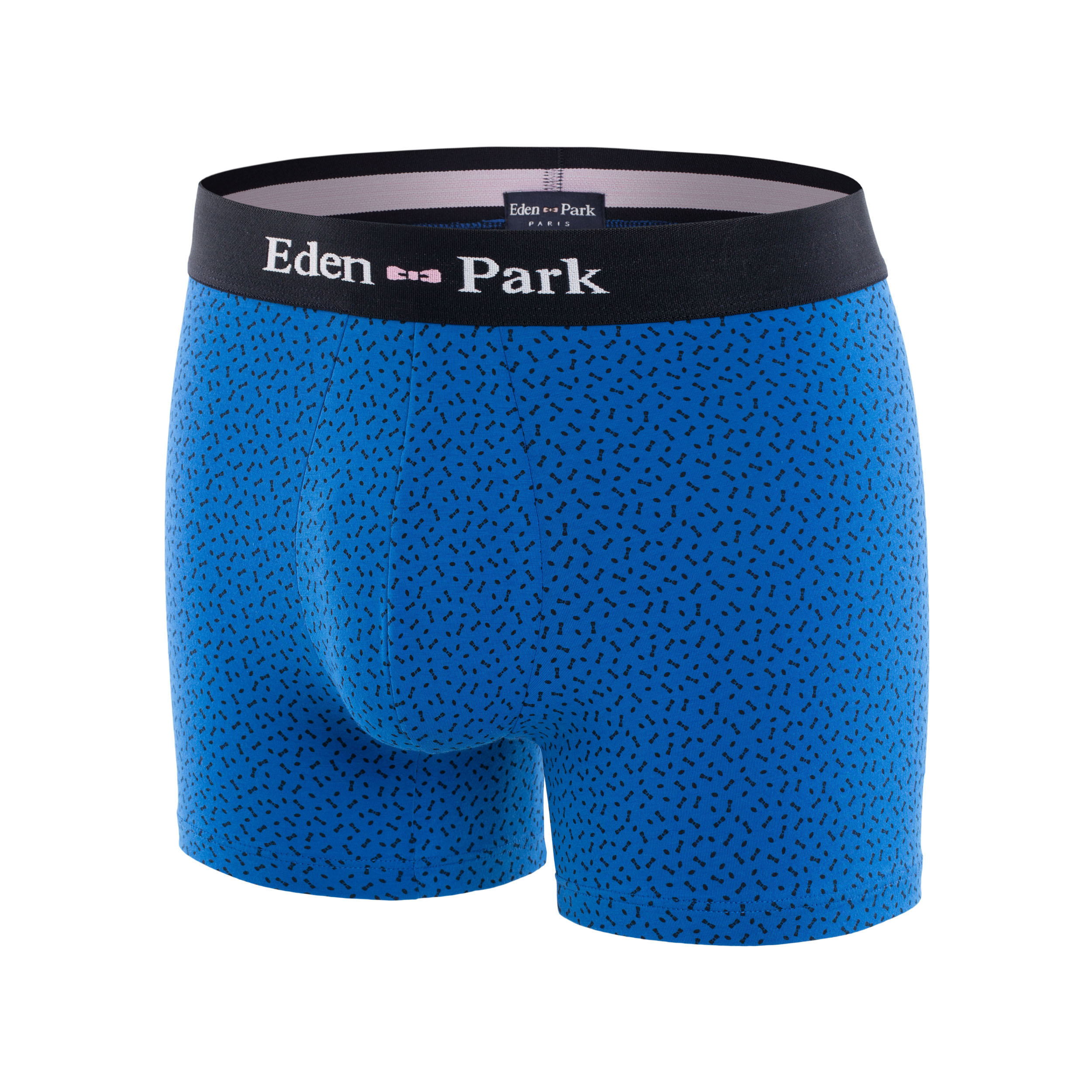 Boxer eden park en coton stretch bleu à motifs n?uds papillons