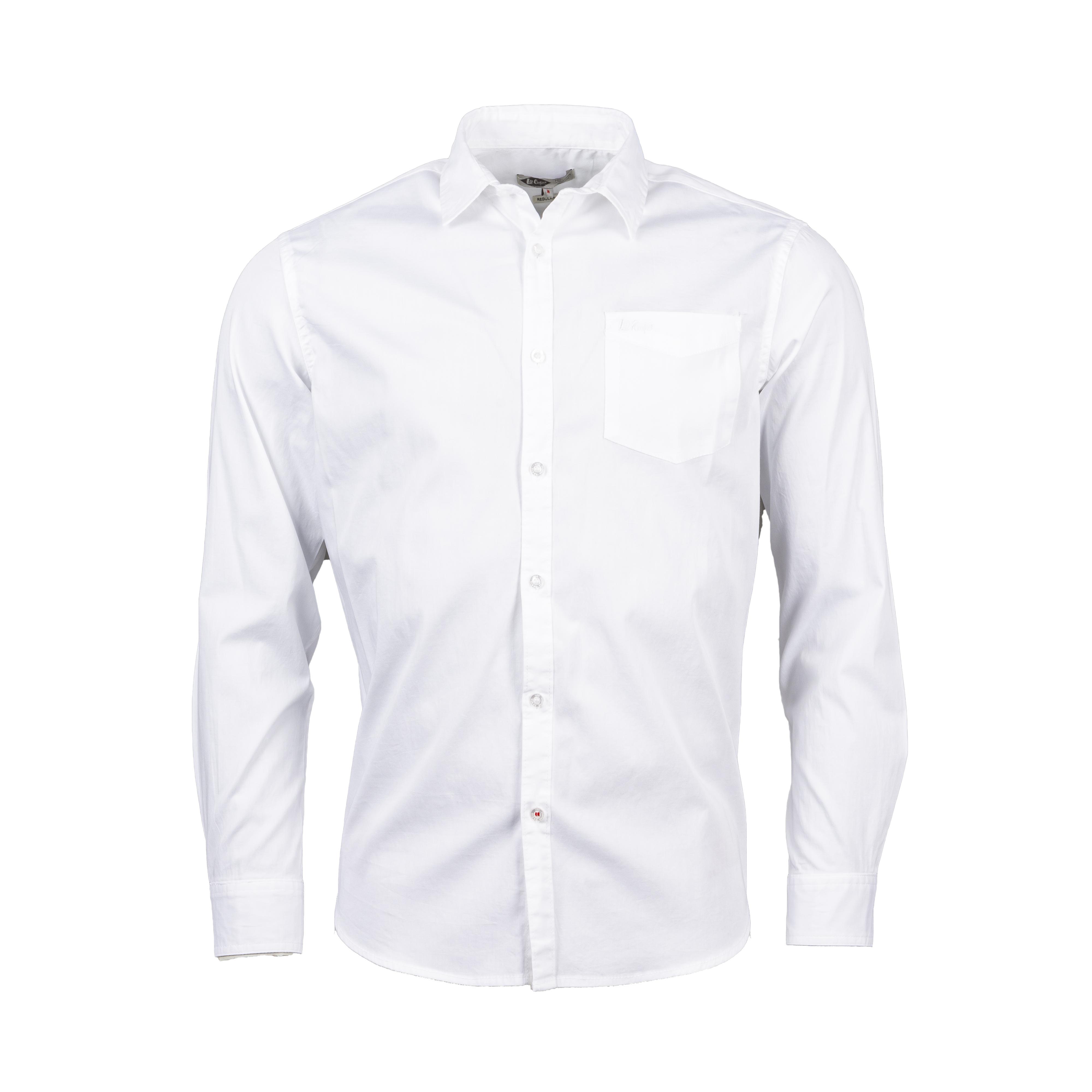 Chemise ajustée Lee Cooper Dilon en coton stretch blanc