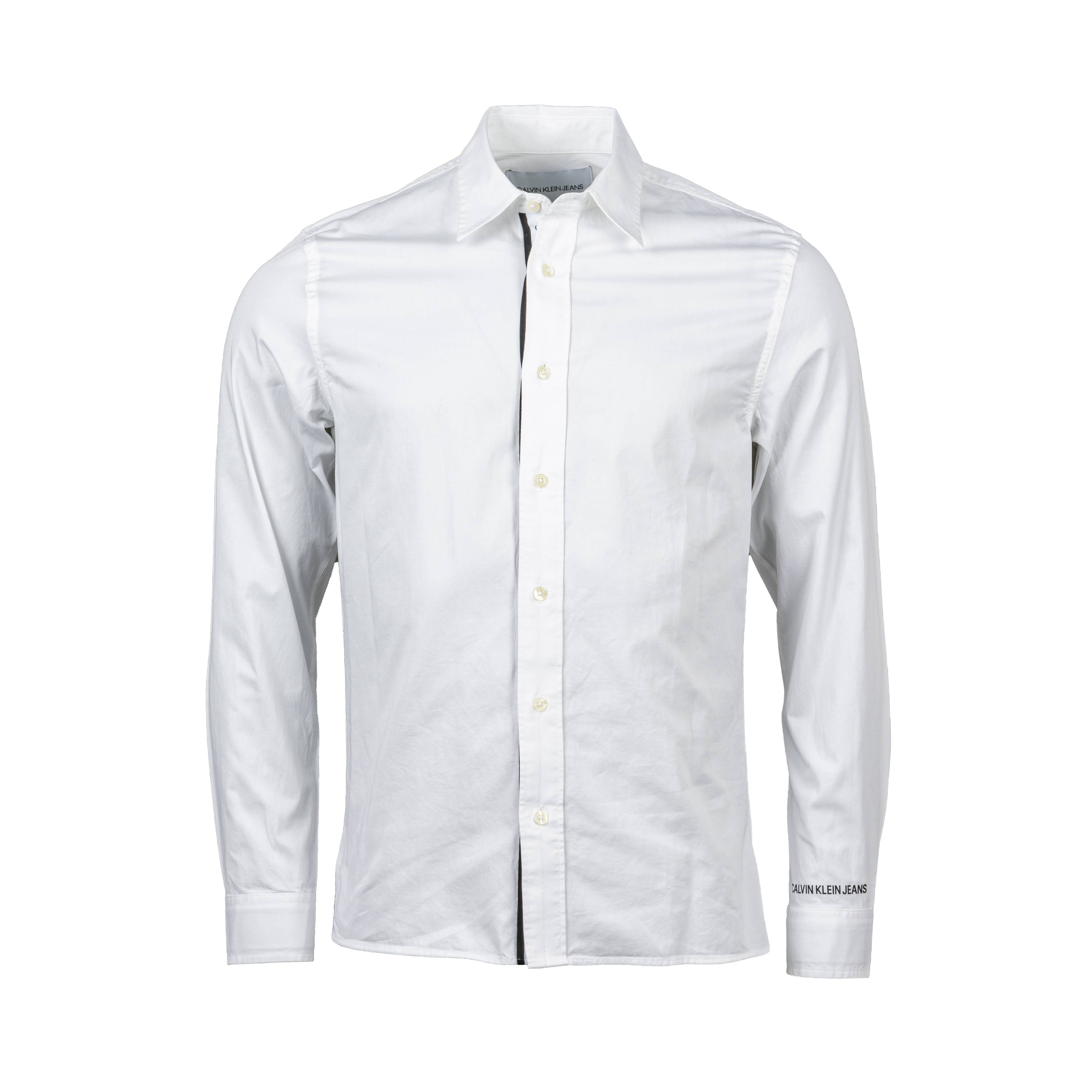 Chemise ajustée  monogram tape en coton blanc