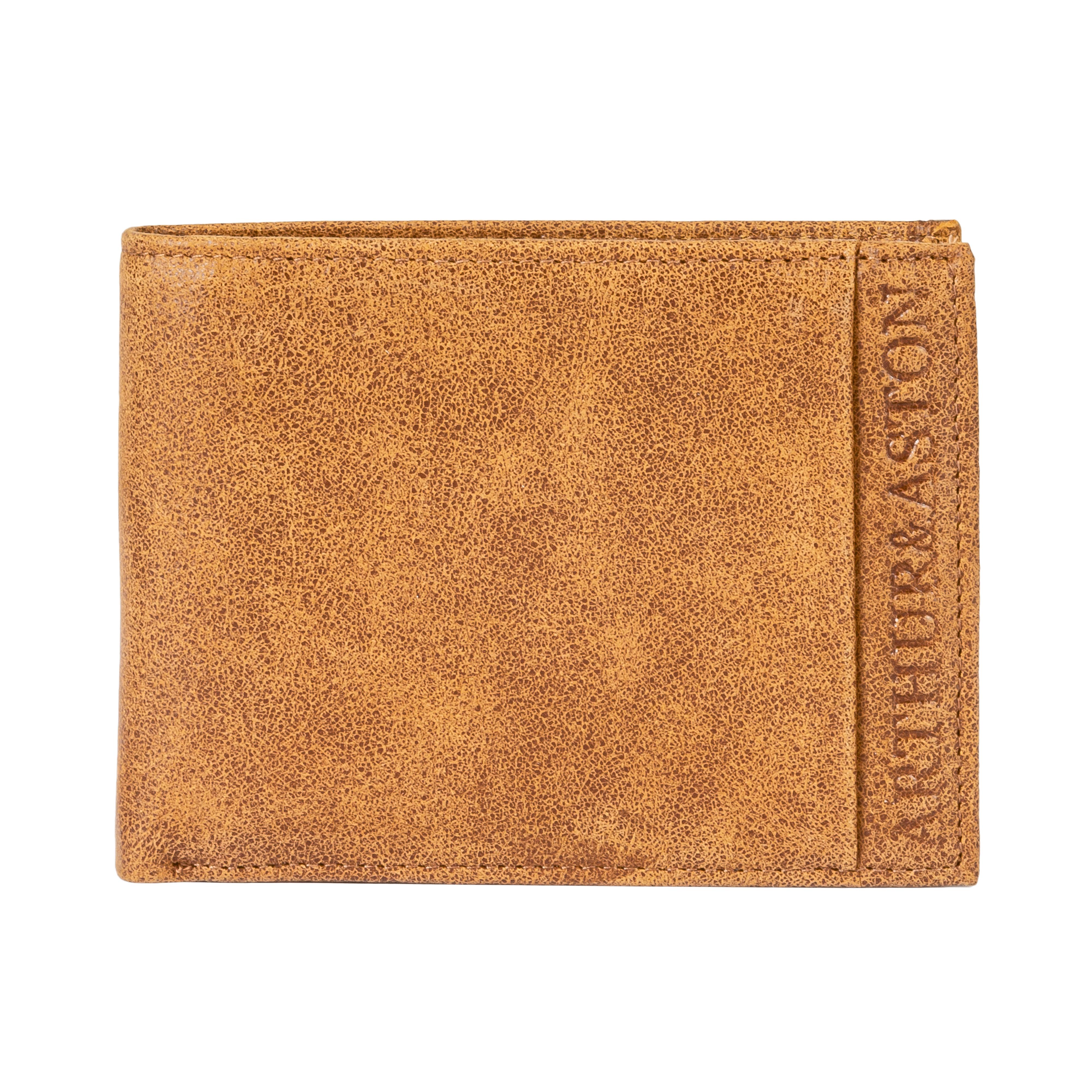 Portefeuille italien 3 volets arthur & aston en cuir de vachette marron