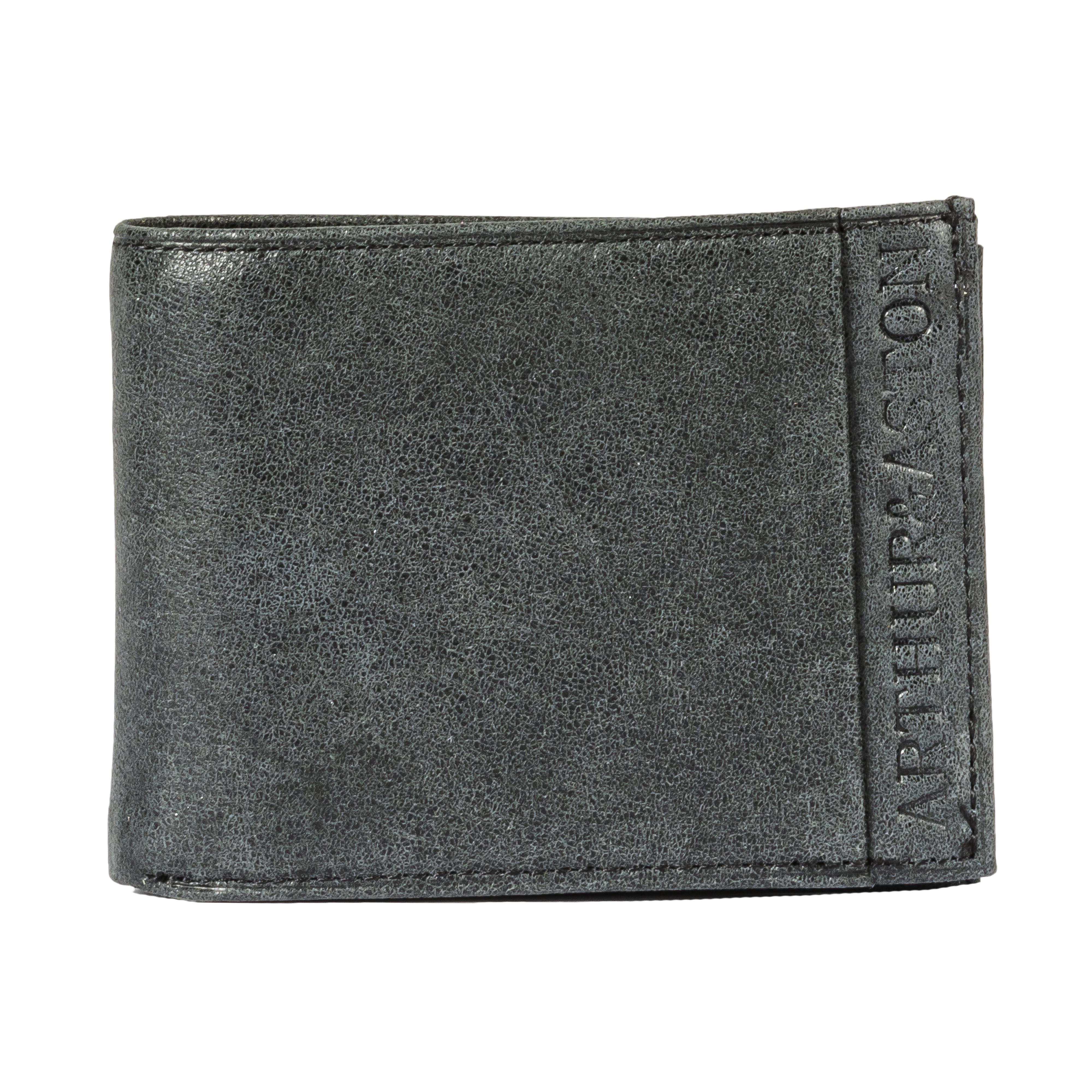 Portefeuille italien 3 volets arthur & aston en cuir de vachette noir