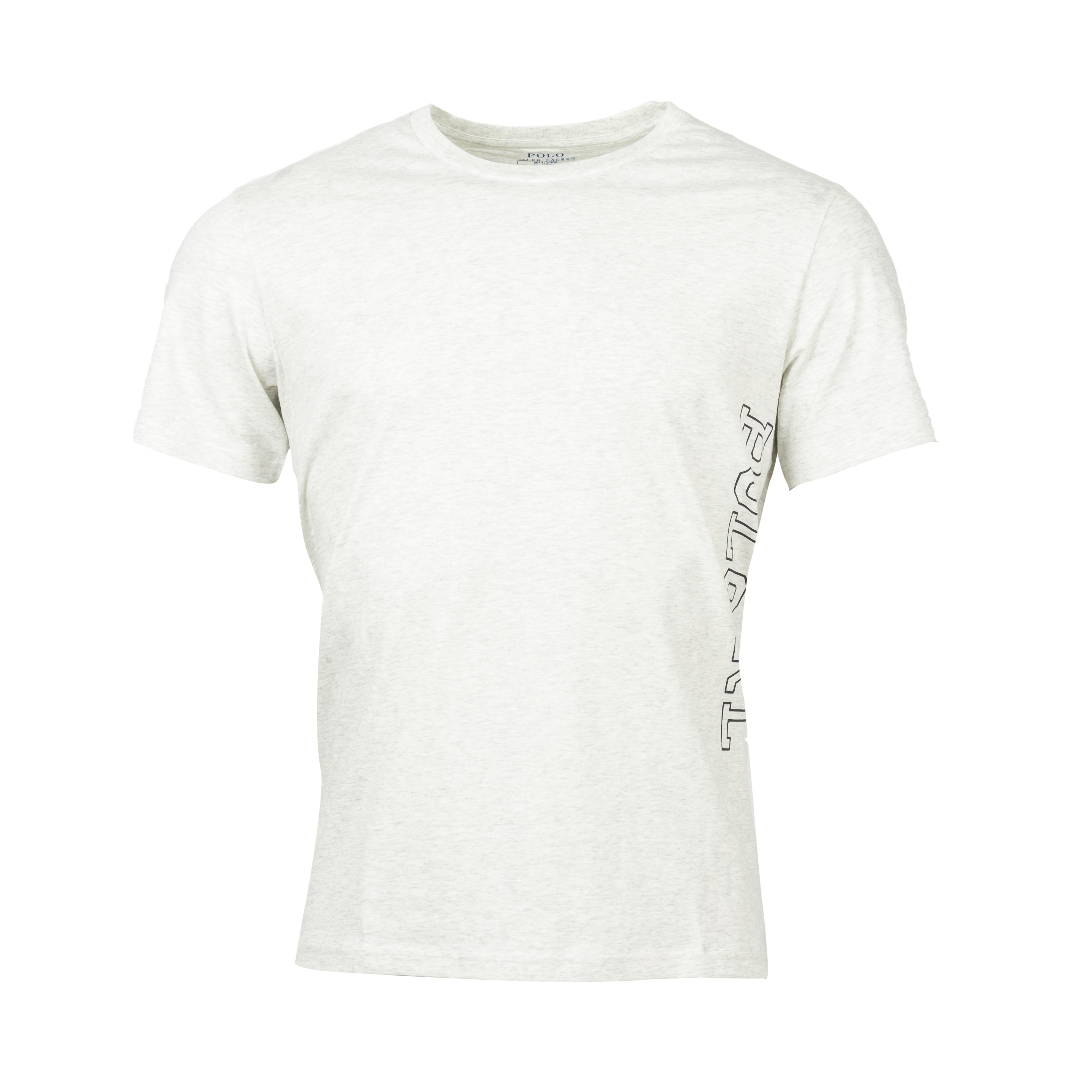 Tee-shirt d\'intérieur  en coton gris chiné floqué