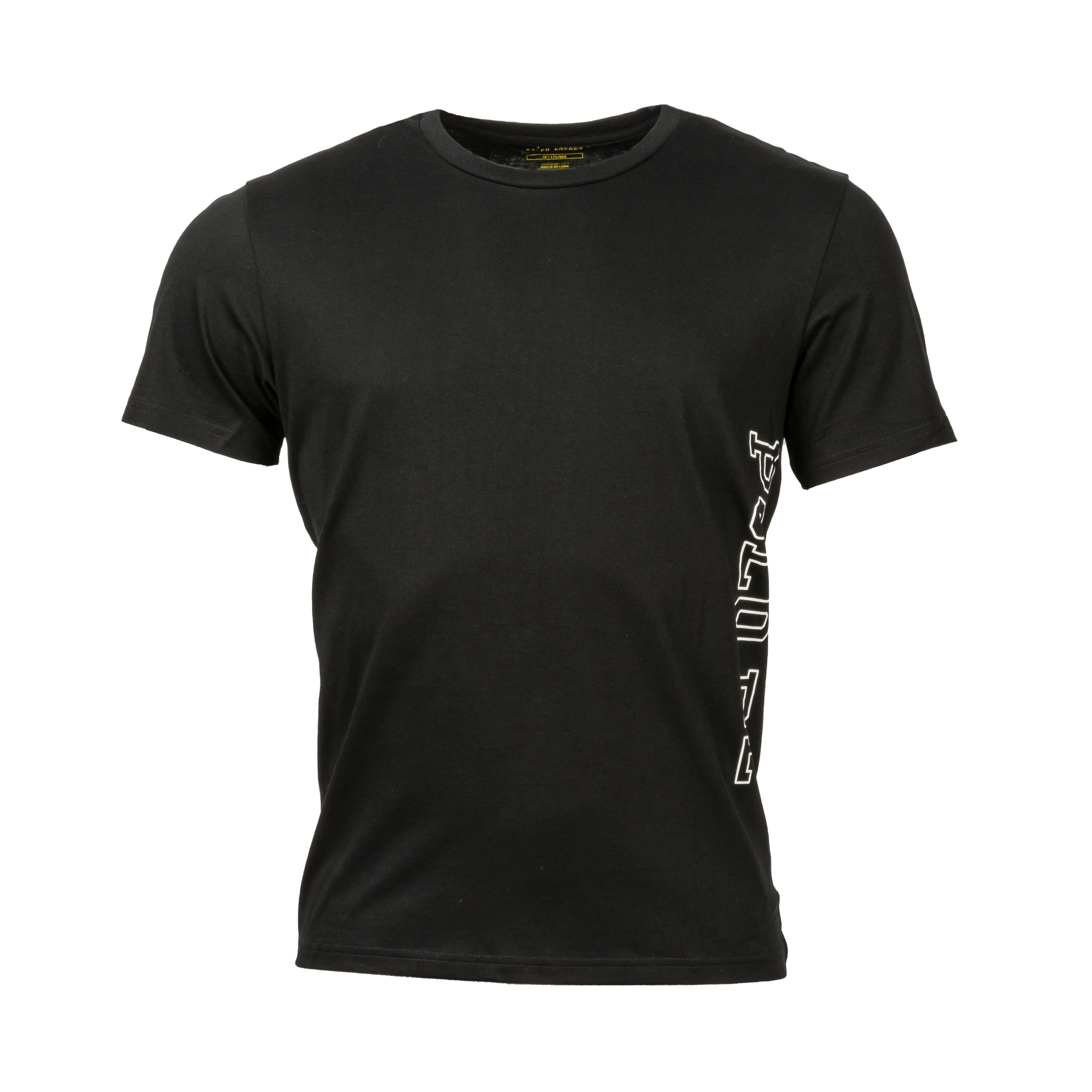 Tee-shirt d\'intérieur  en coton noir floqué