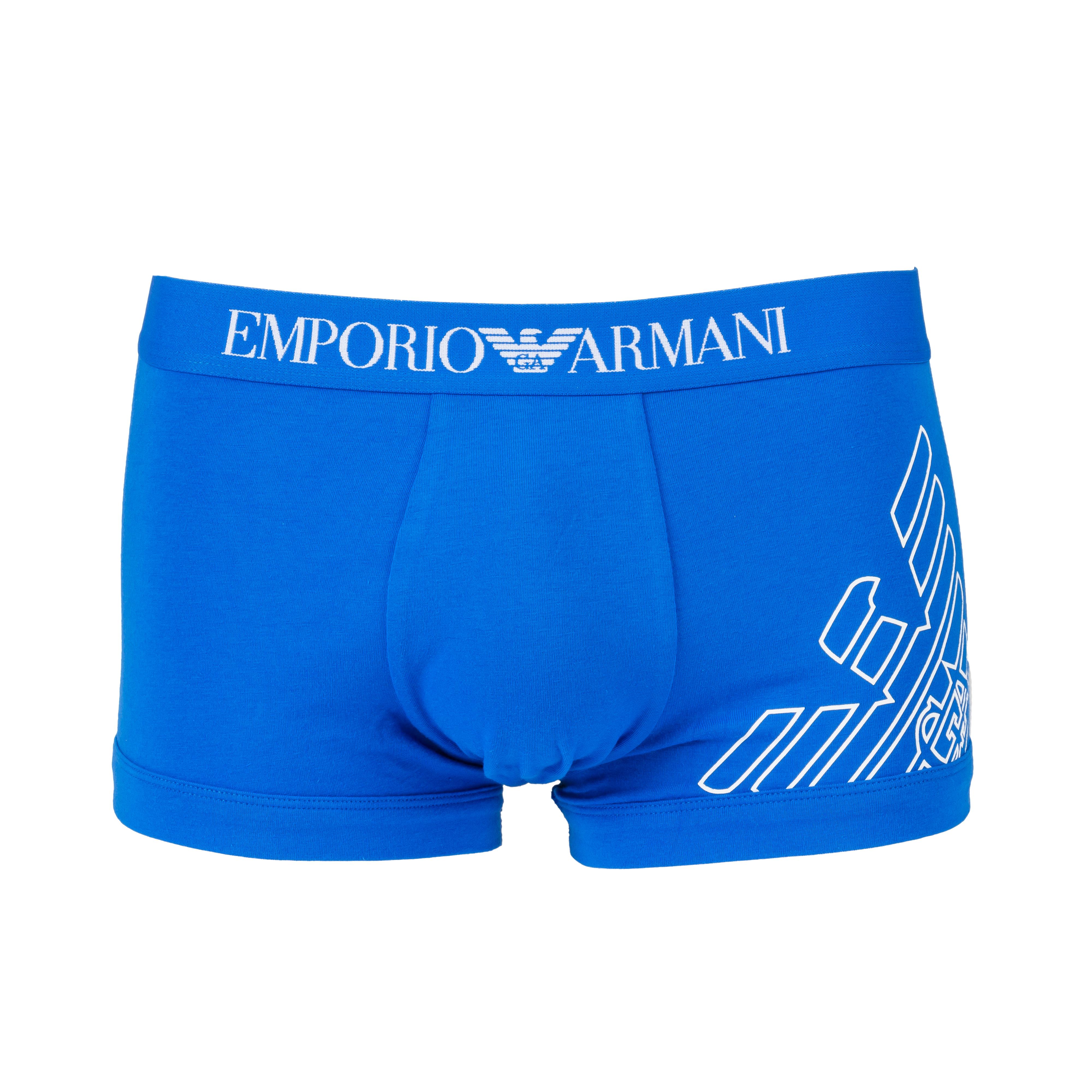 Boxer  en coton stretch bleu électrique