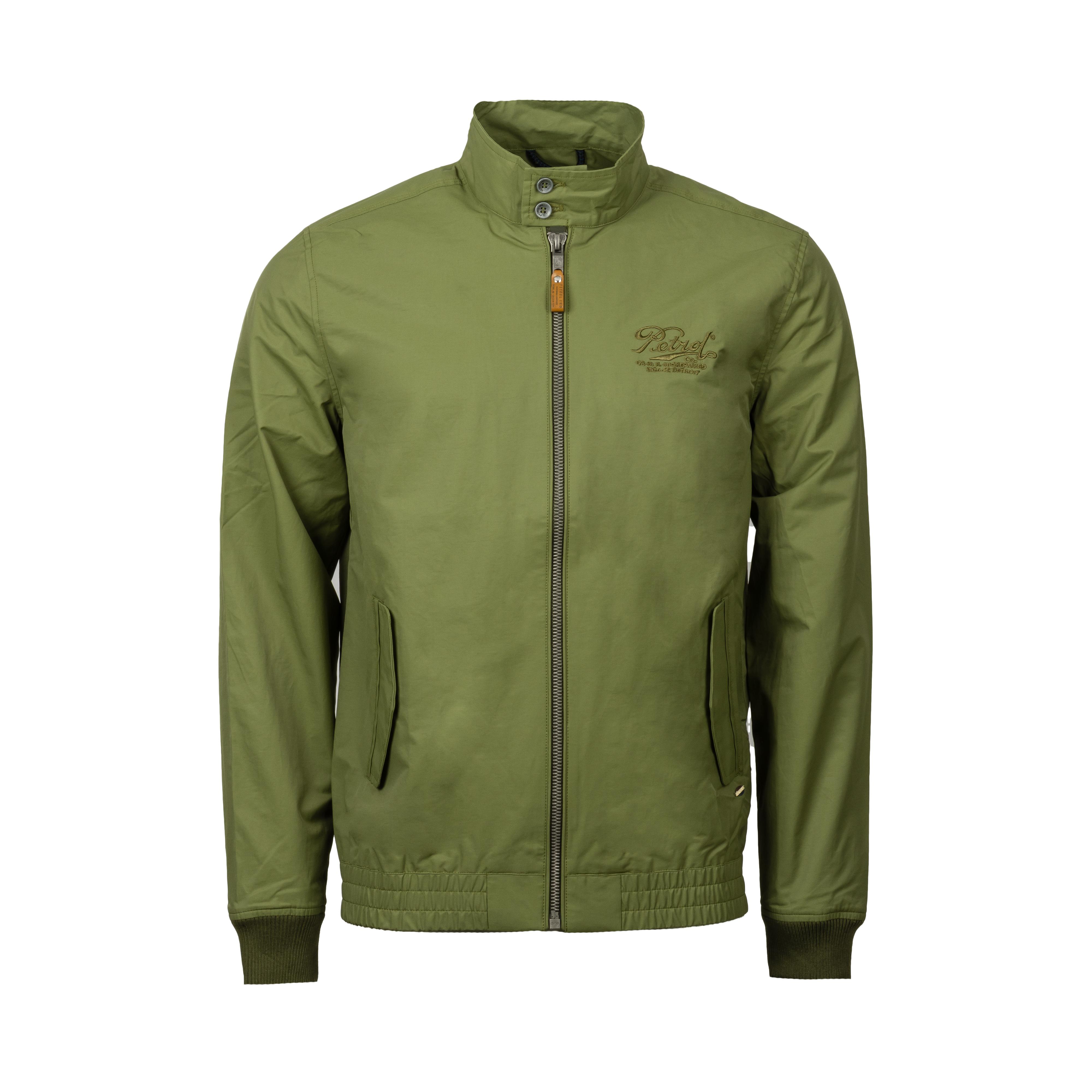 Veste légère  en coton mélangé effet bombers vert kaki
