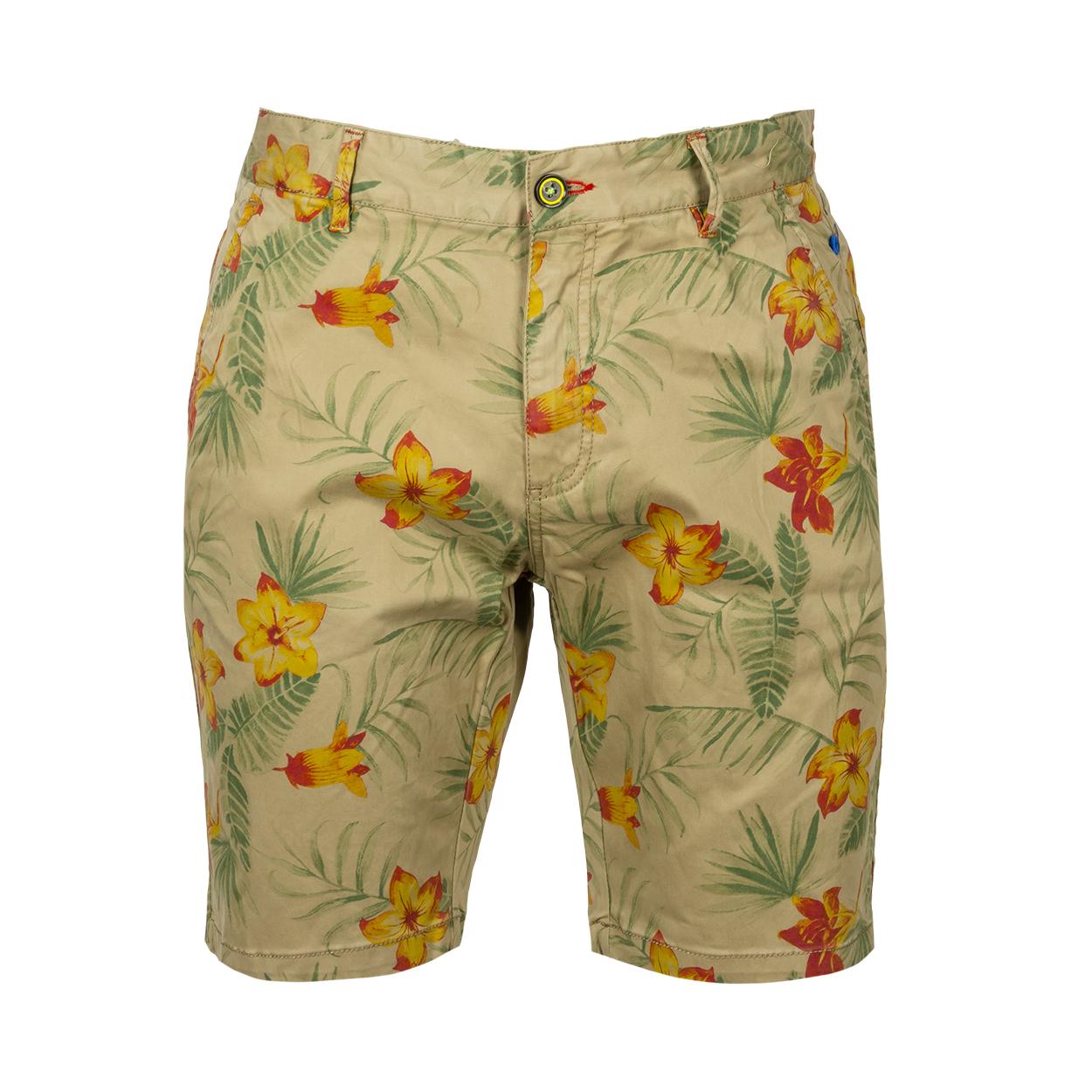Short NZA Sand Fly en coton mélangé vert kaki à fleurs
