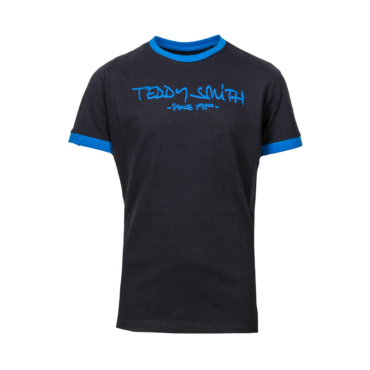 Tee-shirt col rond teddy smith ticlass 3 en coton bleu marine