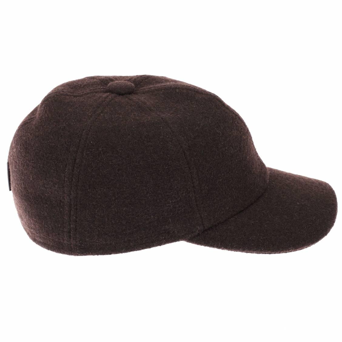casquette en laine avec cache oreilles g ttmann marron rue des hommes. Black Bedroom Furniture Sets. Home Design Ideas