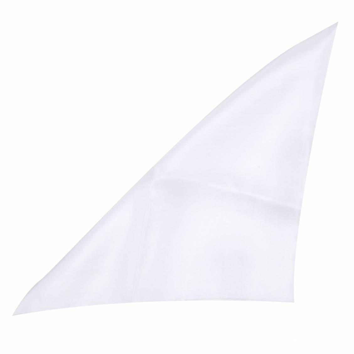 Pochette en soie blanche pour costume