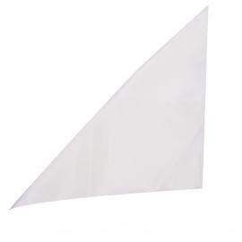 Pochette en soie blanc cassé pour costume