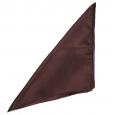 Pochette en soie Chocolat pour costume