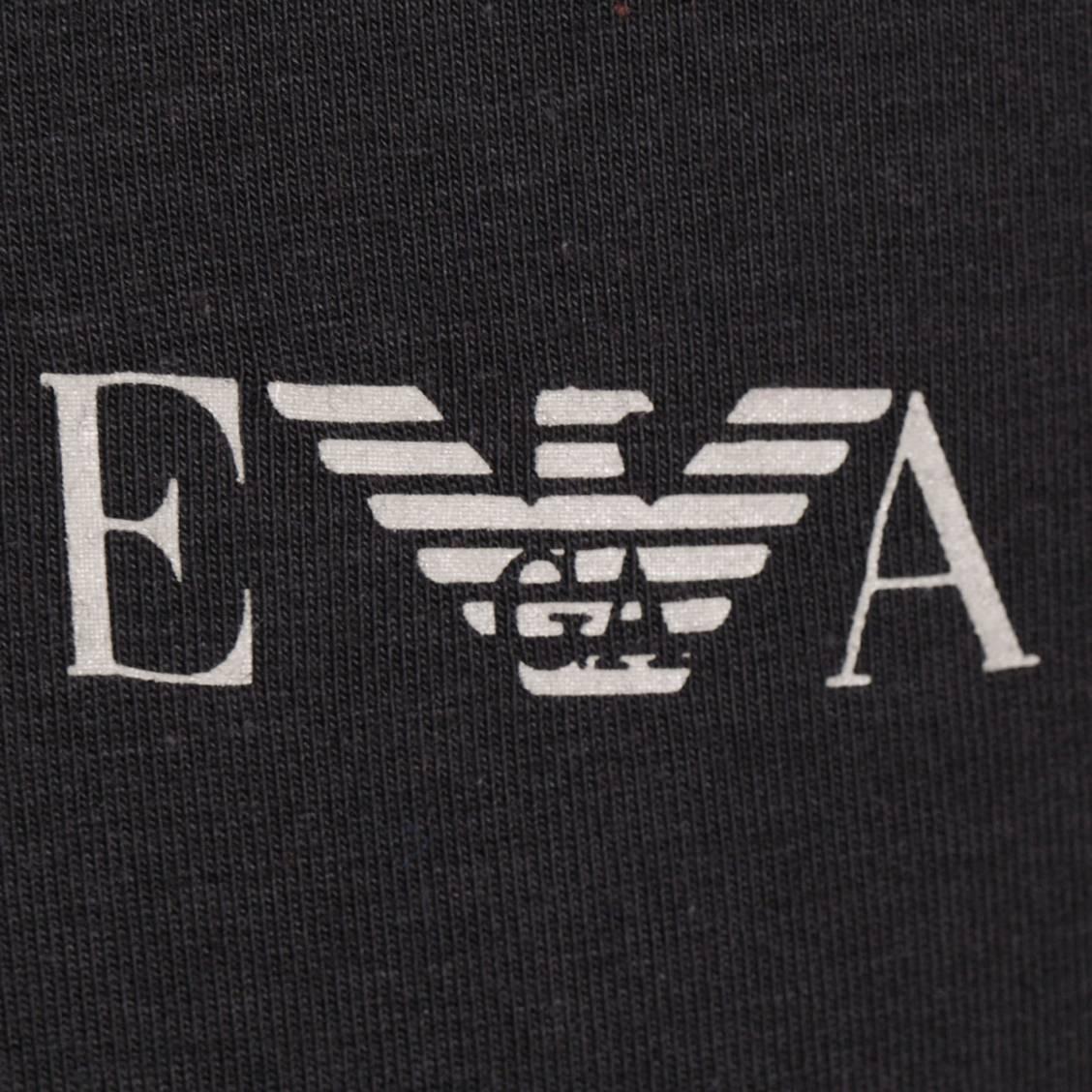 tee-shirt Armani en coton noir col rond