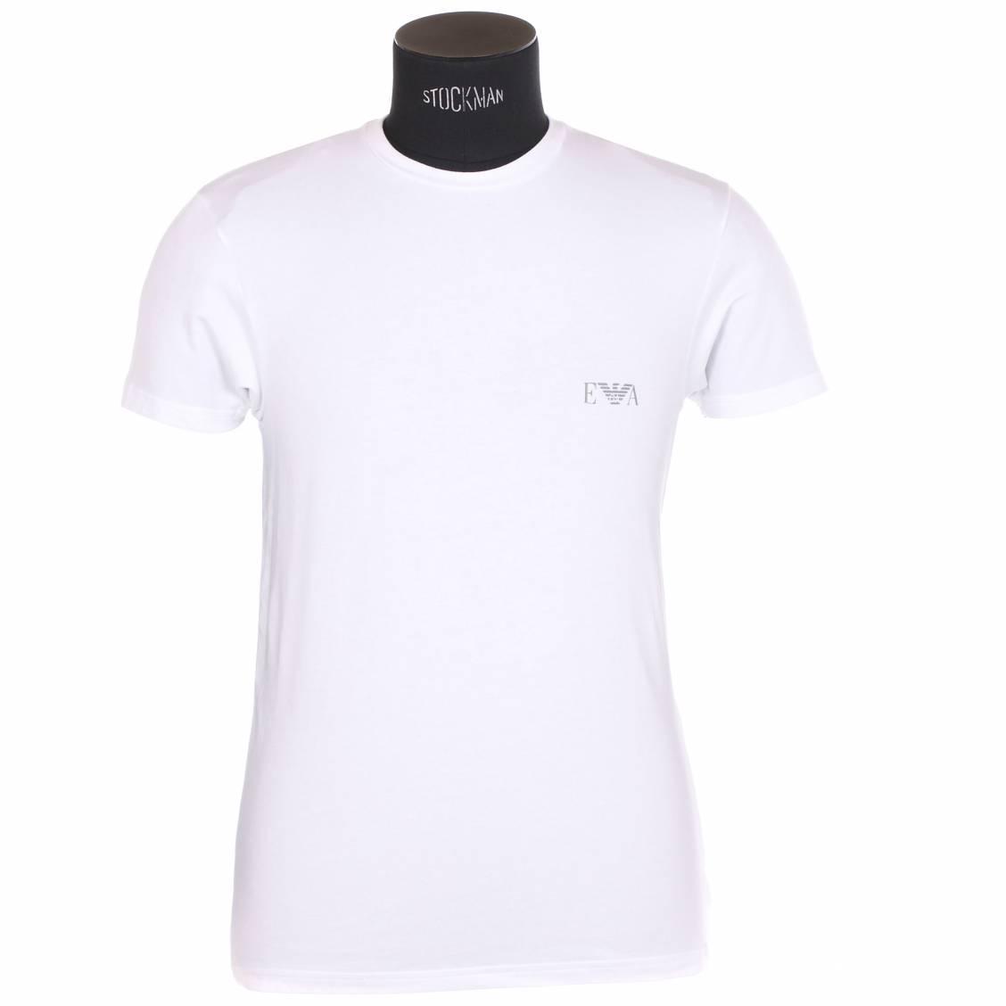 tee-shirt manches courtes armani en coton blanc