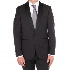 Costume cintré Gianni Ferrucci noir, col châle façon smoking