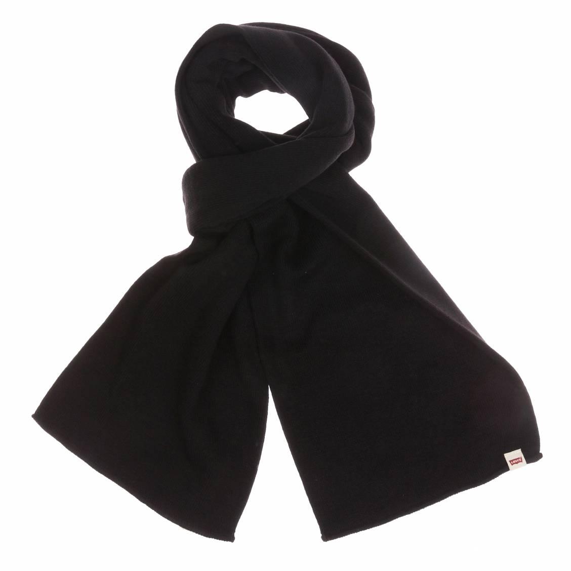 d9d5269ef52e Idéale pour se protéger du froid, l écharpe Levis noire homme, grâce à son  esthétique parfaite, est également un accessoire mode très tendance,  parfait pour ...