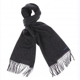Echarpe Jean Chatel anthracite en laine vierge et cachemire