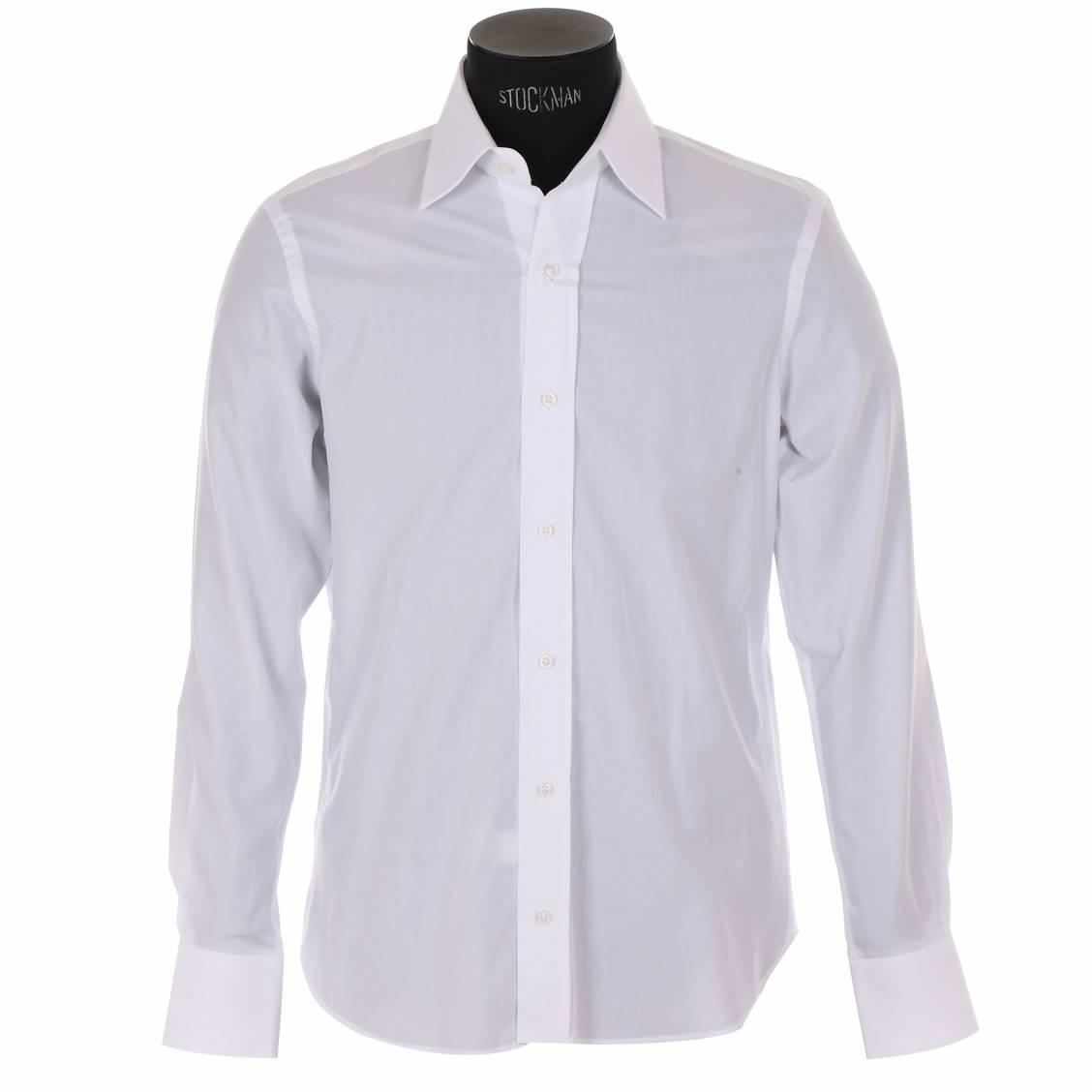 chemise homme cotton park ajust e en popeline blanche. Black Bedroom Furniture Sets. Home Design Ideas